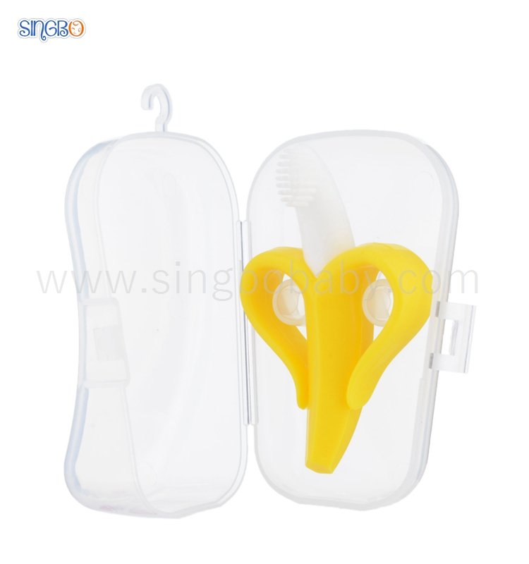 FDA Banana Toothbrush Silicone Baby Teether Toy