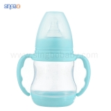 6oz/180ml Wide Neck Baby Plastic Bottle with thermoresponsive base