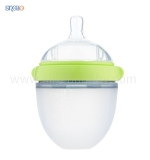 2018 FDA 150ml Super Neck Squeeze Silicone Baby Bottle