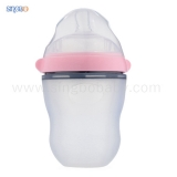 2018 Registered FDA 8oz/220ml Super Neck Squeeze Silicone Baby Bottle