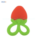 Strawberry-shape silicone teether