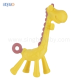 Rubber Animal Teether/Giraffe-shape Teething Toy
