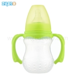 8oz/210ml Wide Neck Baby Plastic Bottle With Round Base