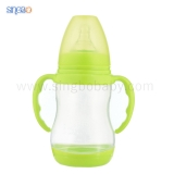 8oz/240ml Wide Neck Baby Plastic Bottle with thermoresponsive base