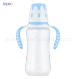 10oz/300ml Wide Neck Baby Bottle with Double Color Handle